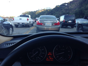 the worst traffic in sepulveda pass